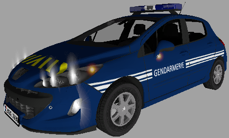 Peugeot 308 Gendarmerie - Farming simulator modification
