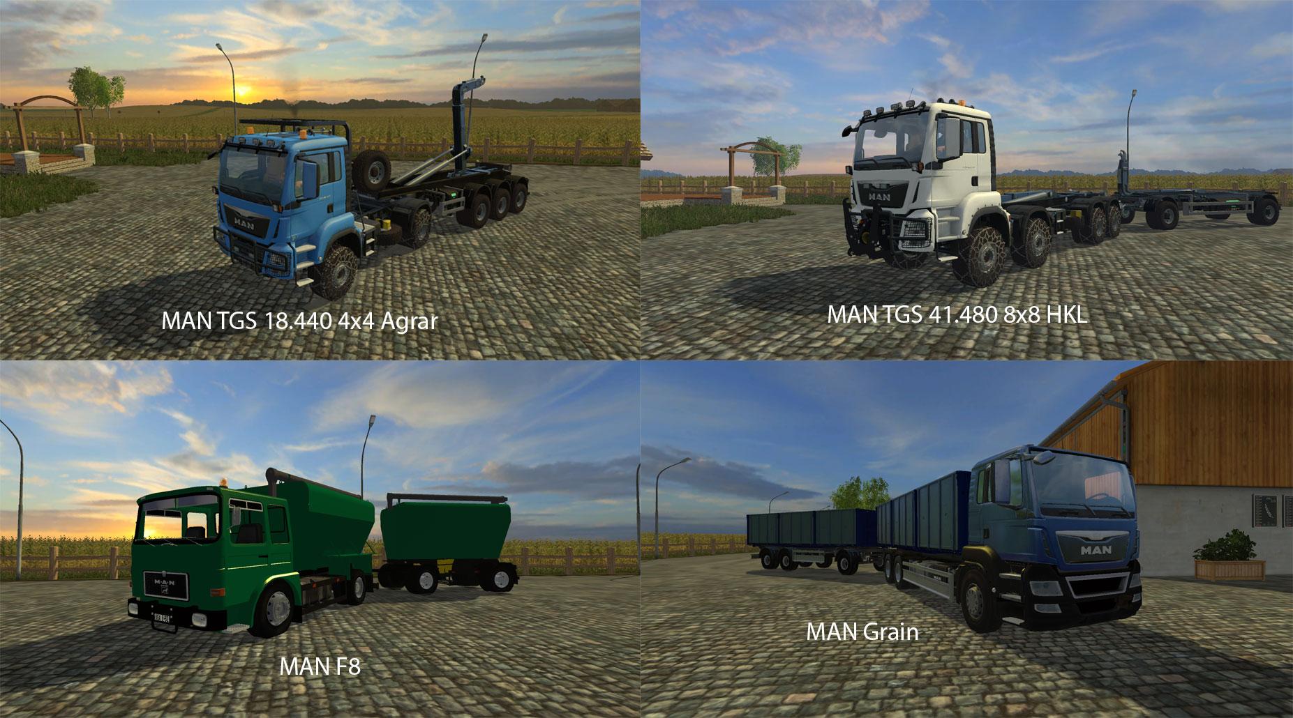 FS15 Big Mods Pack V17 MAN Trucks Pack V1 - Farming