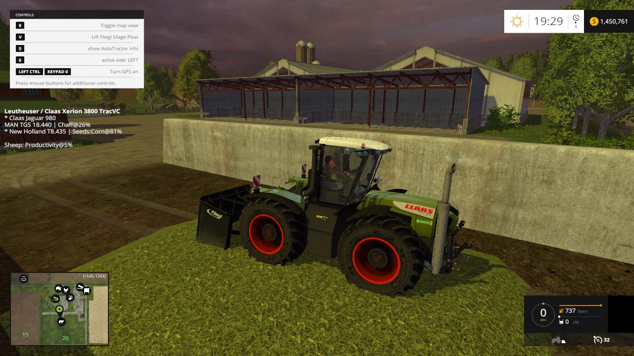Fliegl Boss Silage Plow - Farming simulator modification