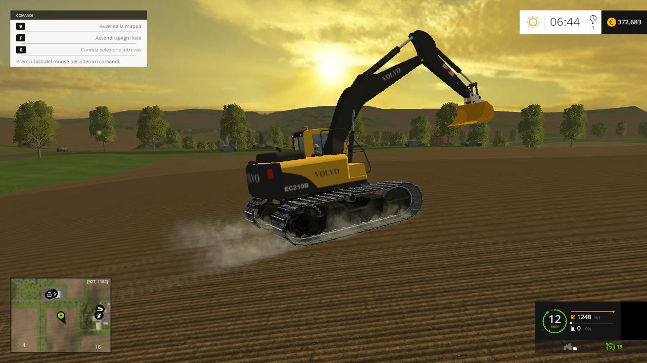 Excavator VOLVO EC210B - Farming simulator modification - FarmingMod com