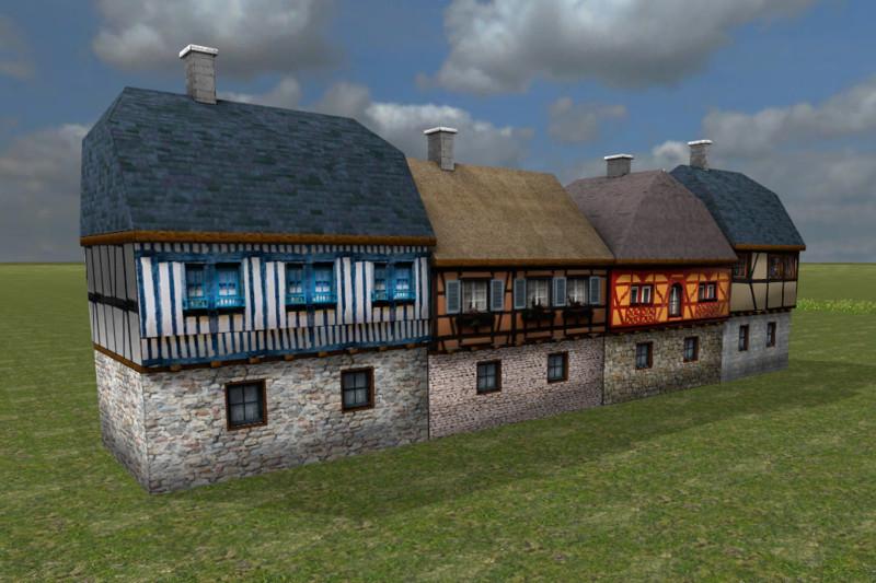 medieval-houses-set