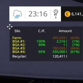 Silage Bunker HUD V 1 0 - Farming simulator modification