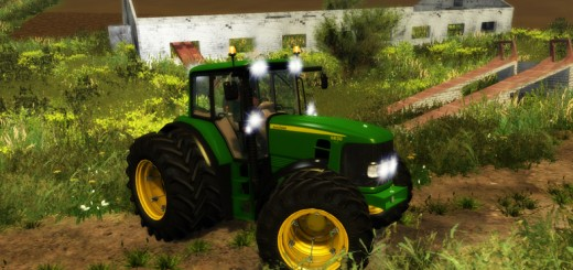 John-Deere-6630-Tractor-Weight-and-Front-Loader-V1