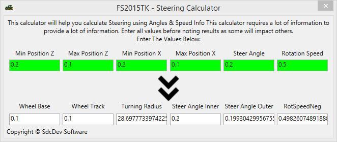 PHYSICS CALCULATORS (MOTOR, GEAR RATIO, SPEED, STEERING) V1