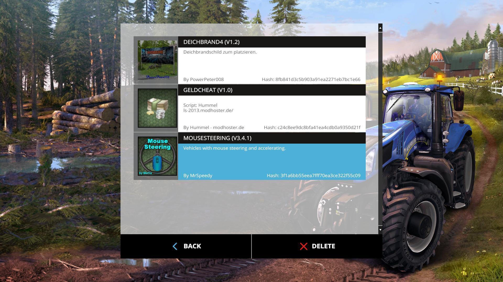 FS15 Mod Mouse Steering - Farming simulator modification