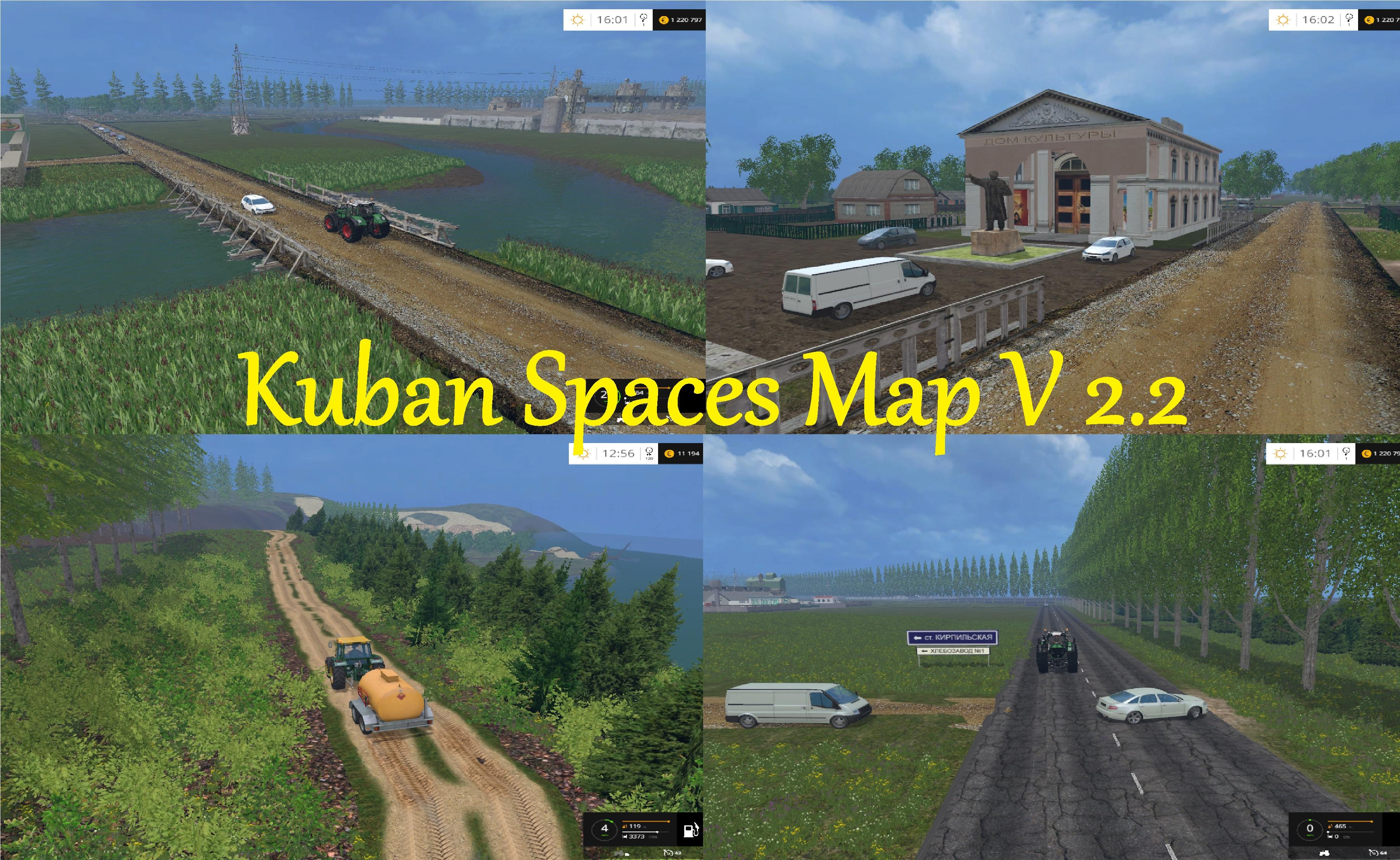 Kuban spaces map v 2 2 farming simulator modification for The russian mod