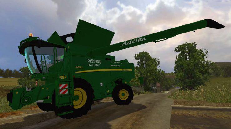 JOHN DEERE S690I COMBINE - Farming simulator modification