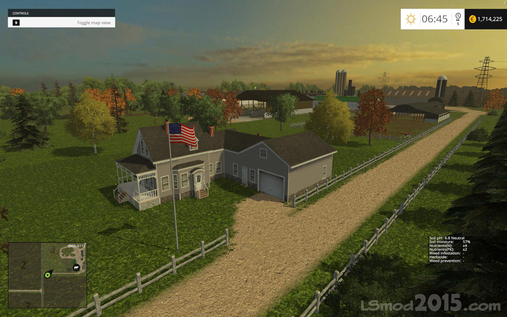 Farming Simulator 17 American Map.Small Town America Map Farming Simulator Modification Farmingmod Com