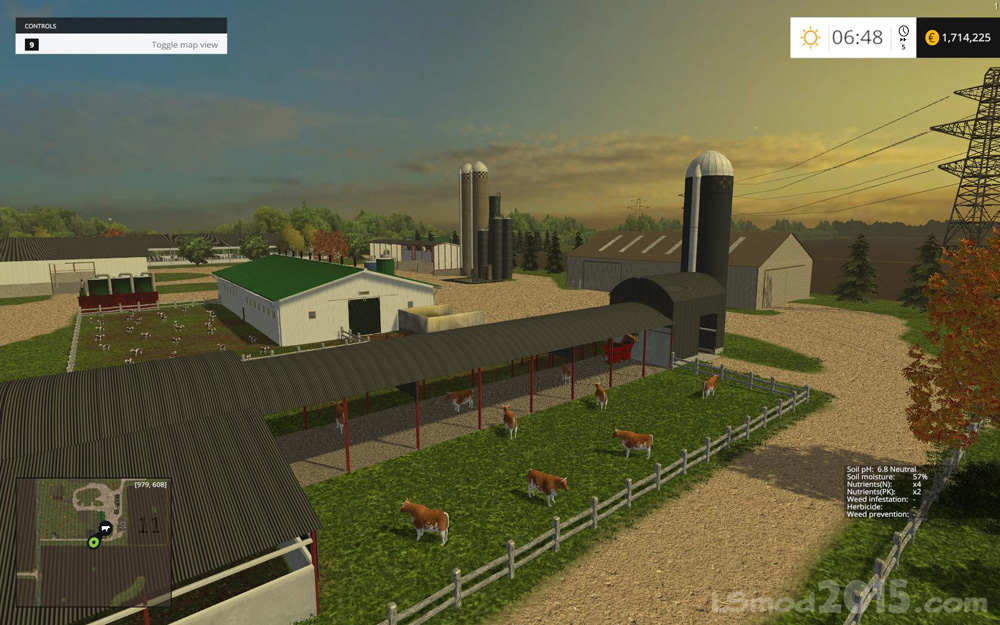 Small Town America Map Farming