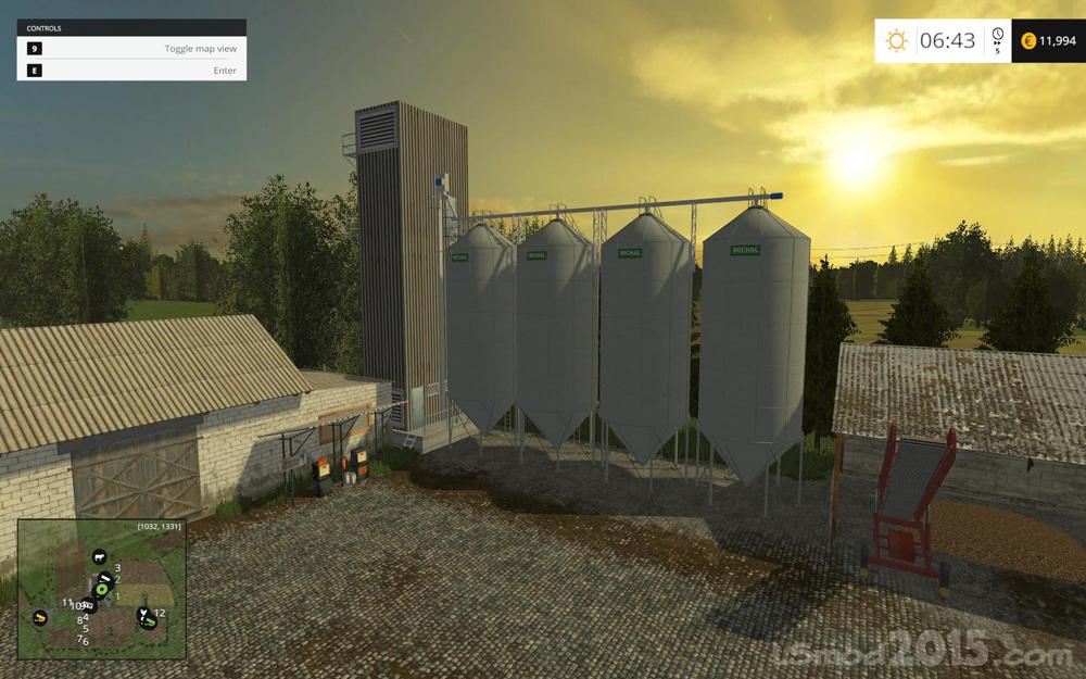 Na Zadupiu V FINAL Farming Simulator Modification - Us grain elevator map