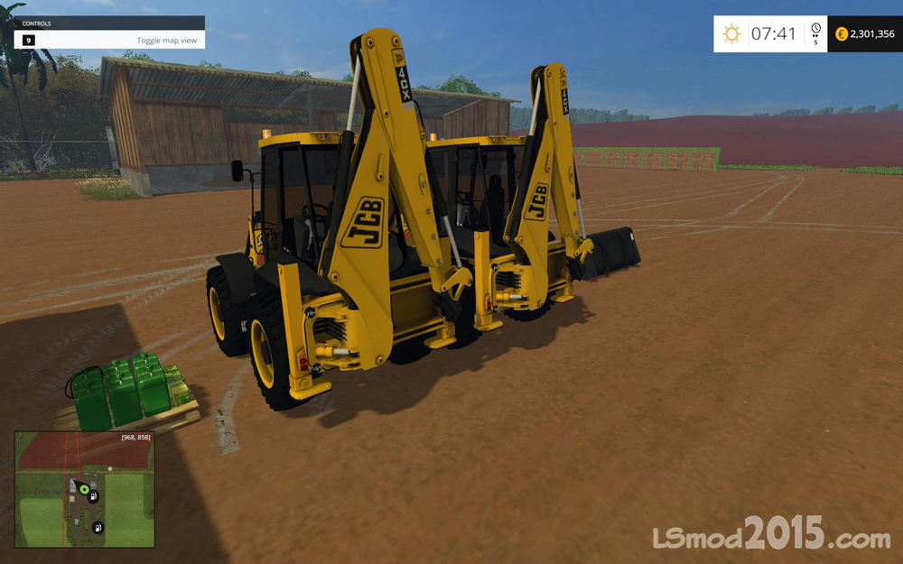 JCB 4CX V 1 1 - Farming simulator modification - FarmingMod com