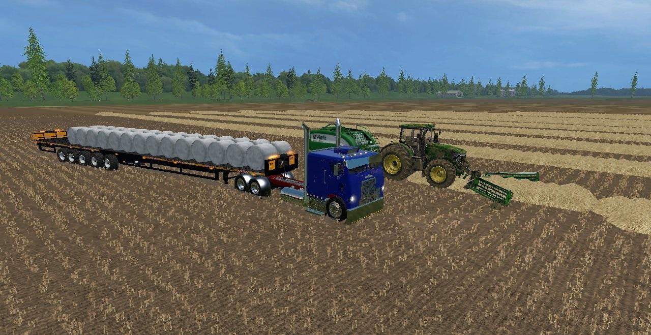 KRONE BALLENGIGANT BALE TRAILER - Farming simulator modification