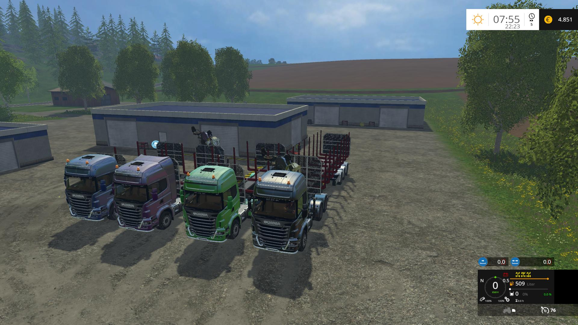 SCANIA 730 FOREST MegaPACK v1 0 - Farming simulator