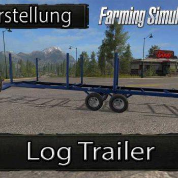 LOG TRAILER CUSTOMIZABLE V1 - Farming simulator modification