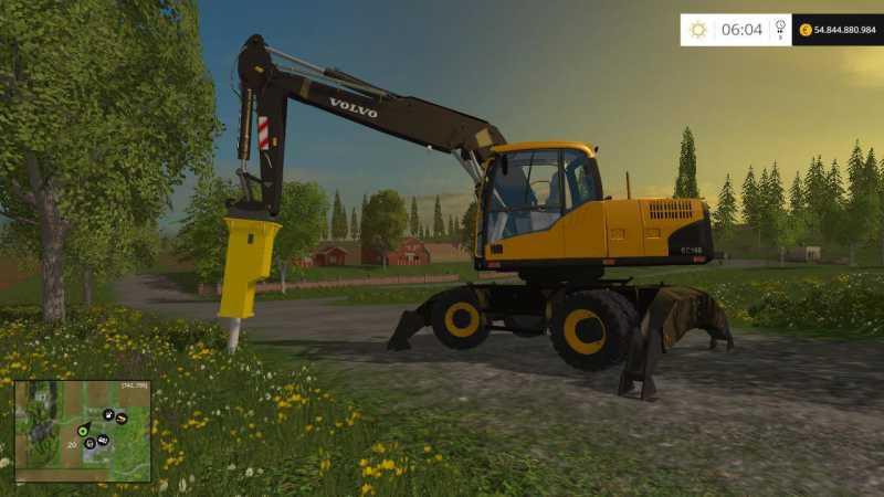 Volvo ew160 et volvo ec160 beta - Farming simulator modification