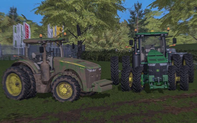 john deere 8r usa v3001 • farming simulator  games