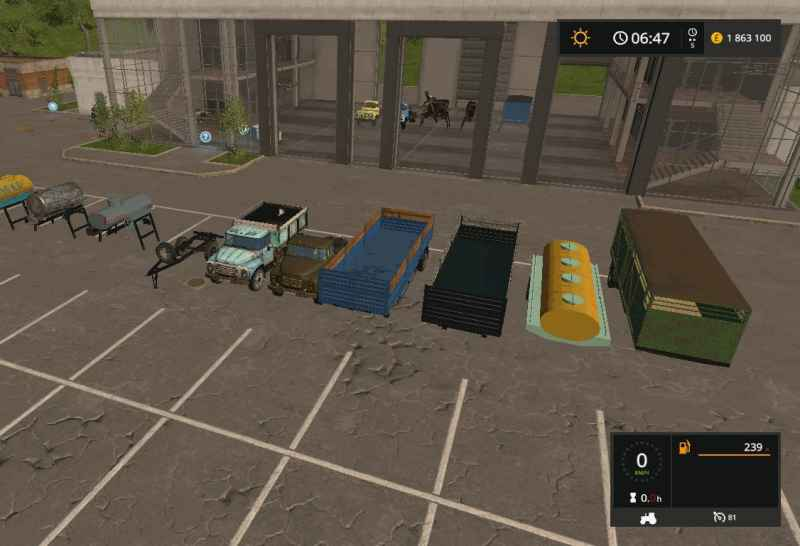 ZIL AND GAZ PACK V1.0 - Farming simulator modification ... Map Zil on