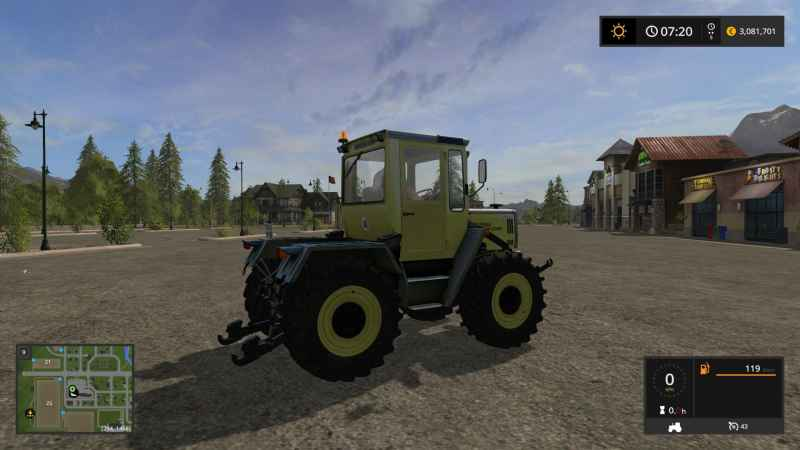 mb trac 900 turbo forst vision v1 0 farming simulator. Black Bedroom Furniture Sets. Home Design Ideas