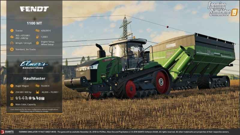 FARMING SIMULATOR 2019 FACT SHEET #2 - Farming simulator