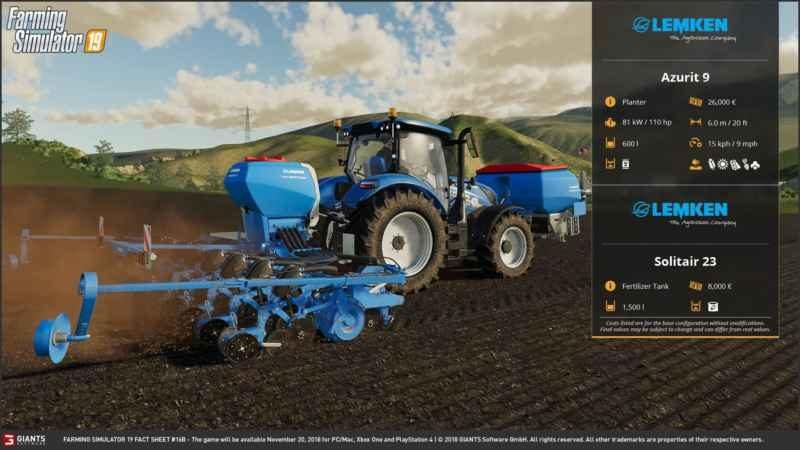 FARMING SIMULATOR 19 FACT SHEET #8 - Farming simulator