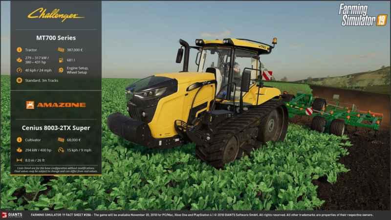 FARMING SIMULATOR 19 FACT SHEET #12 - Farming simulator