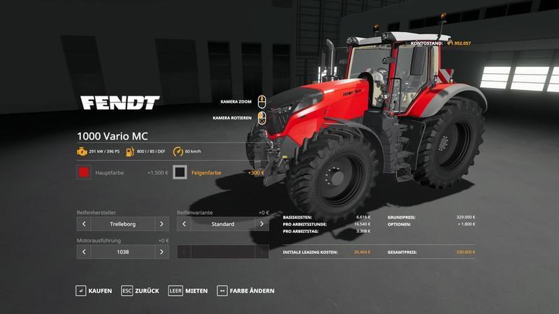 FENDT VARIO 1000 - METALLIC FIX V1 1 - Farming simulator