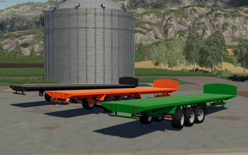 Larrington 42 Foot Bale Trailer v1 0 0 0 FS19 - Farming simulator